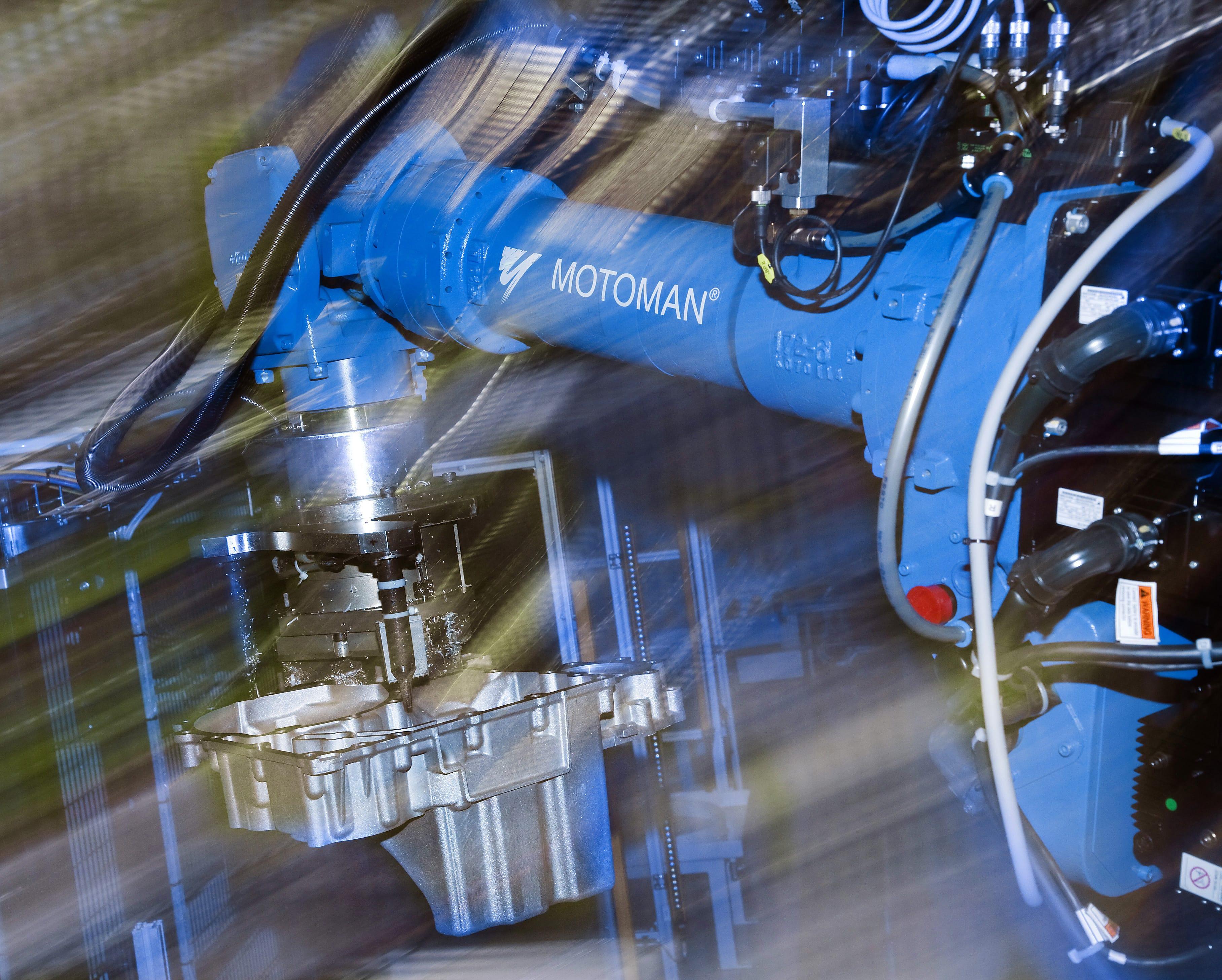 Yaskawa Deburring Robot in Action