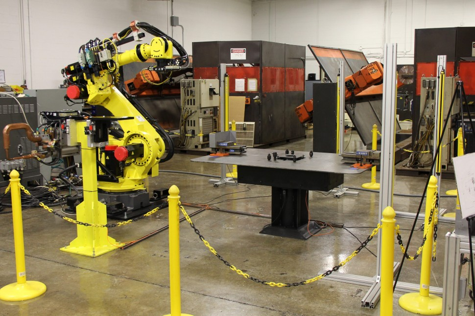 ICR Robots Resist Weld Cell- Light Curtain Safety