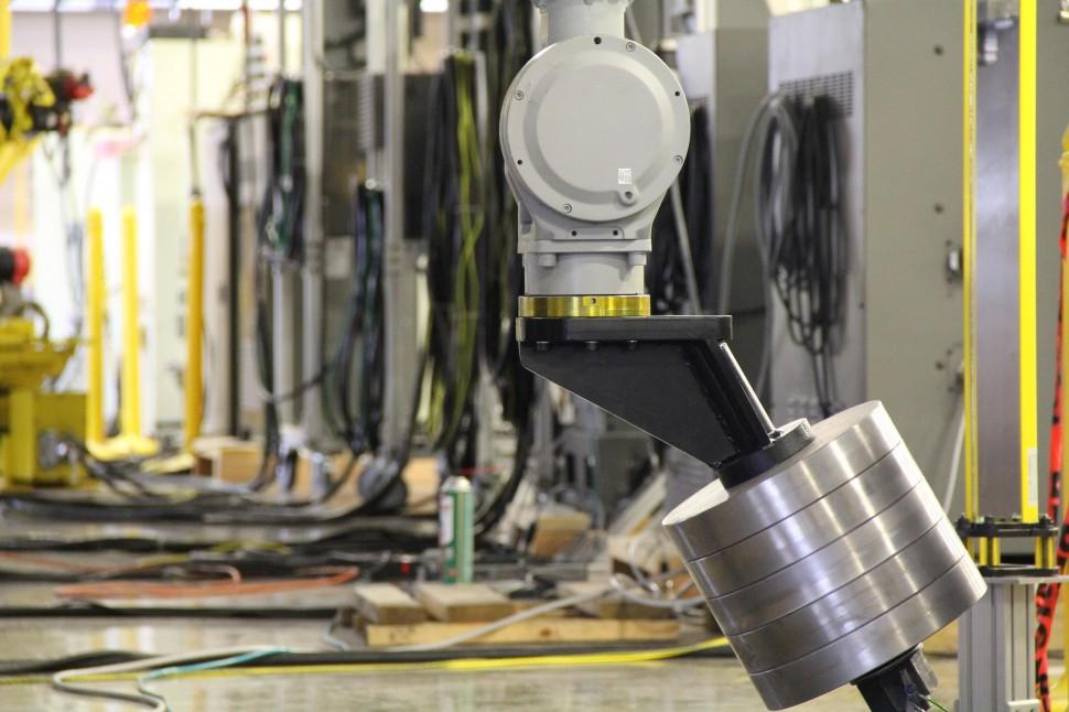 Controller Row with Motoman NX100 HP165R Robot ARM
