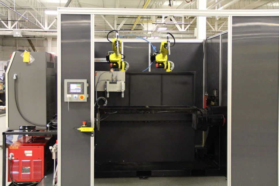 Hatch Cell - Fanuc Robots - Lincoln Electric Welders - Front View
