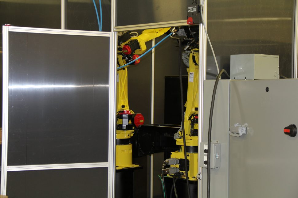 Hatch Cell - Fanuc Robots - Lincoln Electric Welders Back View 1