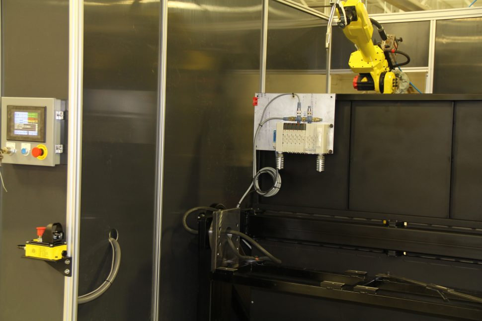 Hatch Cell - Fanuc Robots - Lincoln Electric Welders - Front View Up Close