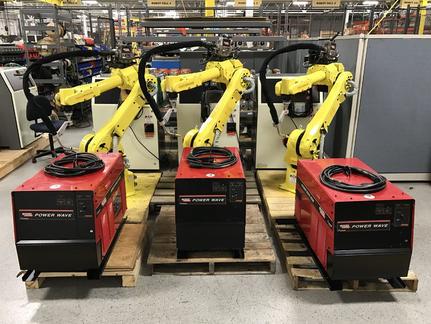 Fanuc 120iB Row with Lincoln Electric Welders