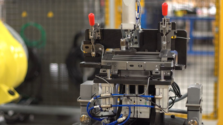 Custom Robot Weld Fixture with Clamps