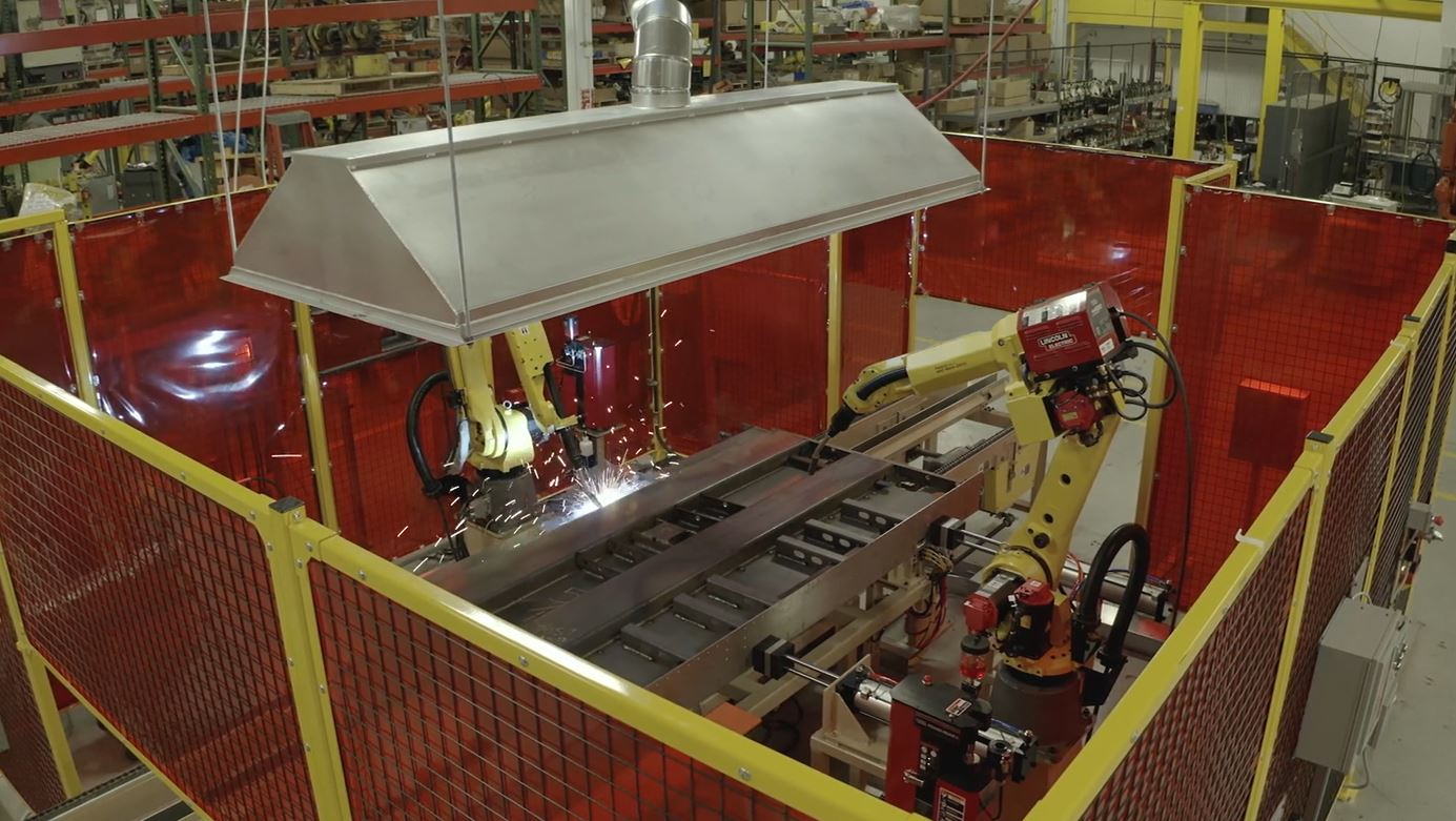 MIG Weld Cell with Seam Tracking and Fanuc ArcMate 120iC Robot