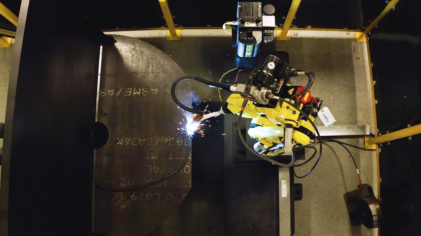 Robotic Welding Systems with Turntable and Torch Reamer